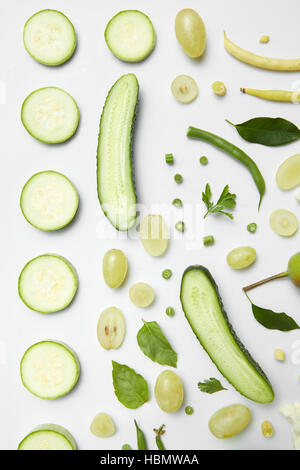 different green vegetables - Stock Photo