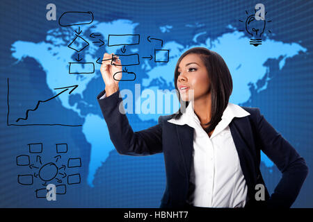 Global business consultant solution - Stock Photo