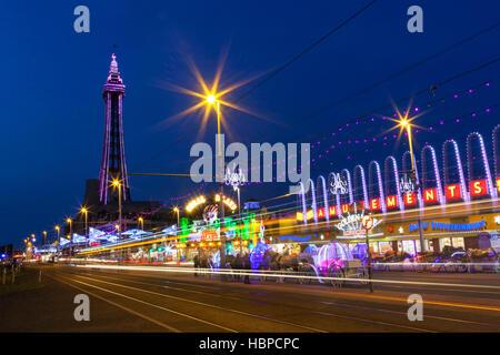 Blackpool Tower, Lancashire, England, U.K. - Stock Photo