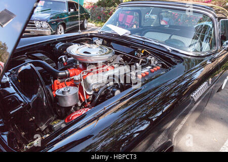 Black 1956 Ford Thunderbird - Stock Photo