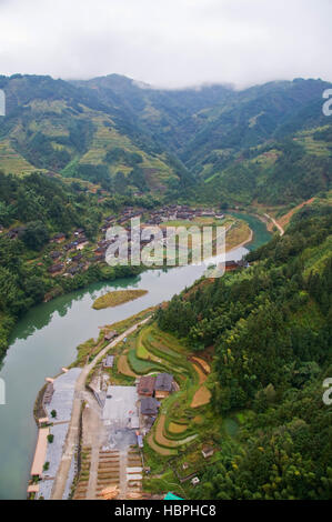 The Dong Village in Guizhou Province of China is an interesting cultural destination. - Stock Photo