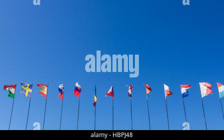 National flags - Stock Photo