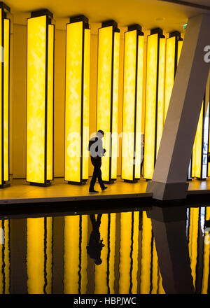 Olafur Eliasson, artwork 'Inside the Horizon' at Louis Vuitton Foundation, Louis Vuitton Fondation,Paris,France. - Stock Photo