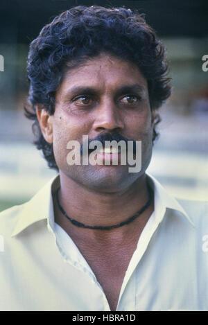 Kapil Dev. Indian cricketer. 1989 - Stock Photo