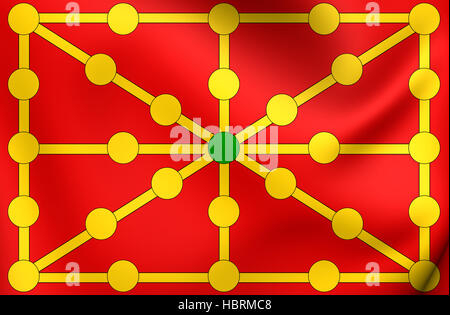 Kingdom of Navarre Flag. - Stock Photo