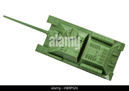 The toy tank, isolate on white background - Stock Photo