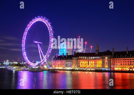 London Eye, London, United Kingdom - Stock Photo