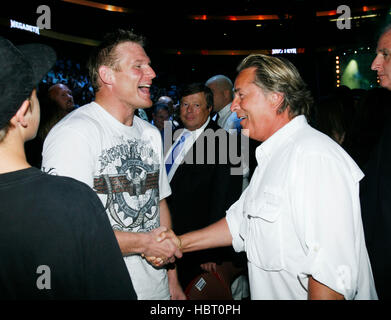 MMA fighter Josh Barnett, left, and actor Don Johnson at Affliction's 'Banned', a mixed martial arts fight at the - Stock Photo