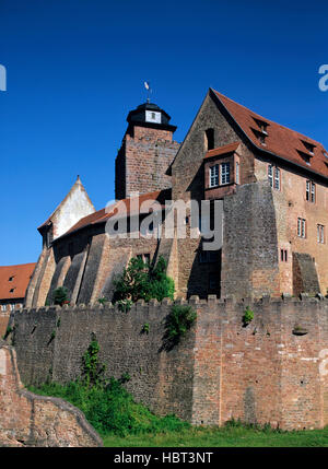 Breuberg Castle in the Odenwald region, Hesse, Germany - Stock Photo