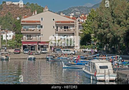 Marmaris Harbour Motor Boats Turkey - Stock Photo