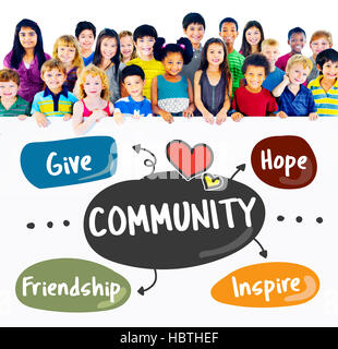 Donations Charity Volunteer Words Concept - Stock Photo