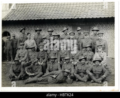 British & Indian officers 9th Gurkhas at their headquarters in - Stock Photo