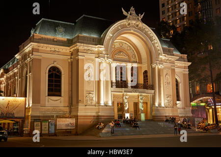Historic Municipal Theatre of Ho Chi Minh (aka Saigon Opera House), Ho Chi Minh City (Saigon), Vietnam - Stock Photo