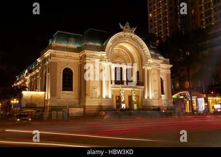 Historic Municipal Theatre of Ho Chi Minh (aka Saigon Opera House), Ho Chi Minh City (Saigon), Vietnam - Stock Photo