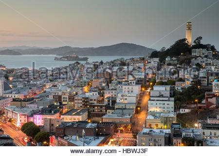 San Francisco in Blue and Gold - Stock Photo