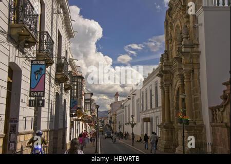 Bolivia, Sucre, street view - Stock Photo