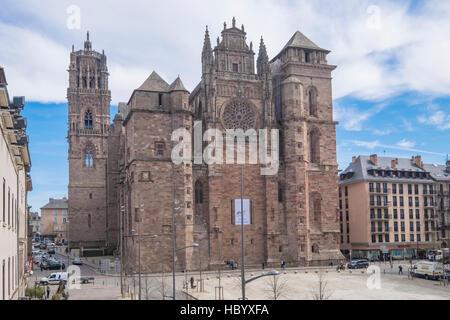 Notre-Dame Cathedral, Place d'Armes, Rodez, Aveyron, Languedoc-Roussillon-Midi-Pyrénées, France
