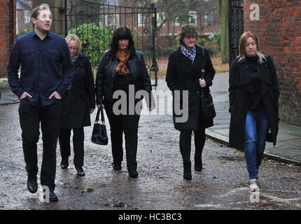 Ruth Lowe (second left), mother of Jack Lowe, and Joanne Dakin (second right) mother of Tomas Lowe, arriving at - Stock Photo