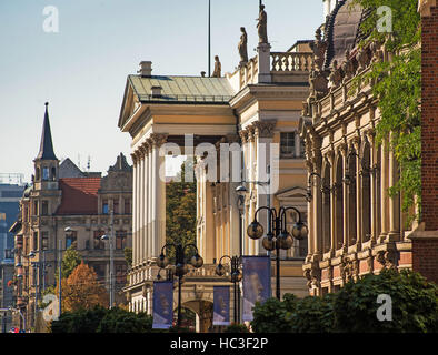 historical buildings in an old European city. Wroclaw, Poland - Stock Photo