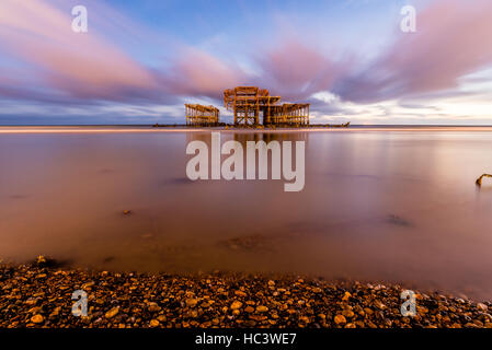 Brighton West Pier, East Sussex, England UK - Stock Photo
