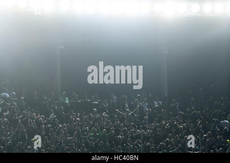 Barcelona, Spain. 6th Dec, 2016. Moenchengladbach fans at the Champions League football match between FC Barcelona - Stock Photo