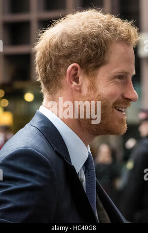 London, UK. 7th December, 2016. Prince Harry arrives to attend 24th ICAP Global Charity Day Credit:  Guy Corbishley/Alamy - Stock Photo