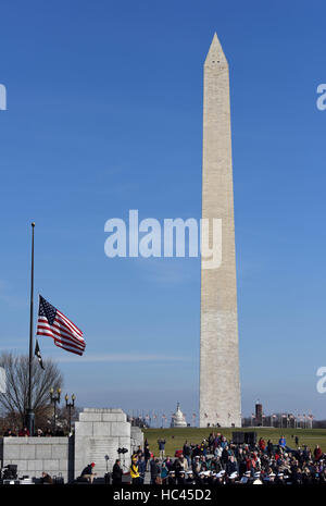 Washington, DC, USA. 7th Dec, 2016. People attend the 75th anniversary commemoration of Pearl Harbor attack, at - Stock Photo