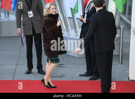 Hamburg, Germany. 8th Dec, 2016. Liechtenstein Foreign Minister, Aurelia Frick, on her way to the meeting of the - Stock Photo