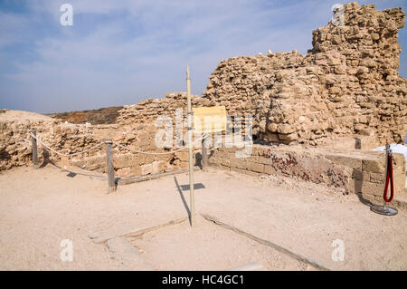 The remains of the old fort of Apolonia, AKA Arsuf, Apollonia is an archaeological park containing the ruins of - Stock Photo