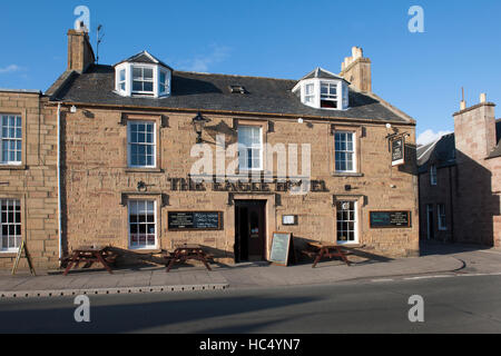 The Eagle Hotel, Castle Street, Dornoch, Sutherland, Scotland, UK. - Stock Photo