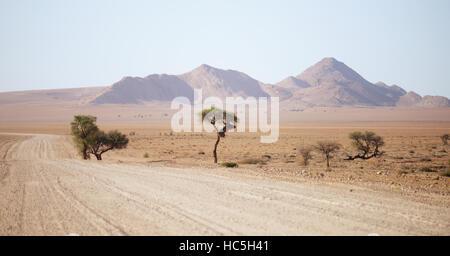 gravel road in Namibia - Stock Photo