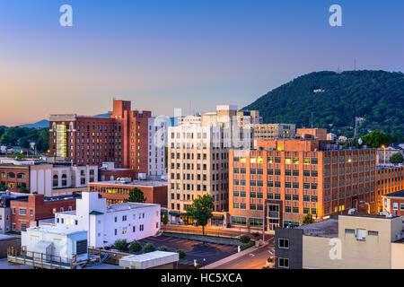 Roanoke, Virginia, USA downtown skyline. - Stock Photo