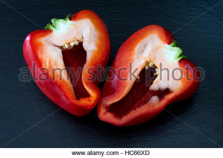 how to cut a red pepper