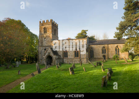 The Church of St. Peter and St. Paul in the village of Chacombe, Northamptonshire, UK - Stock Photo