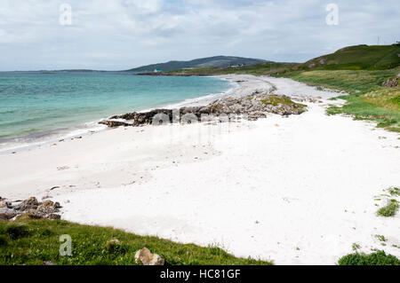 Prince's Beach on the island of Eriskay in the Outer Hebrides, where Bonnie Prince Charlie landed in 1745. - Stock Photo
