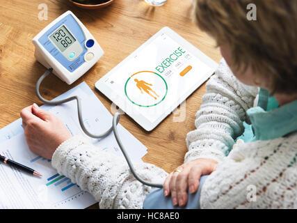 Calorie Counter Health Diet App Concept - Stock Photo
