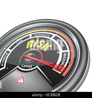 efficiency level conceptual meter indicate hundred percent, isolated on white background - Stock Photo