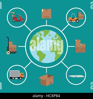 delivery concept global logistic cargo - Stock Photo