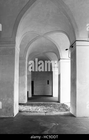 Image of abstract arches in black and white. - Stock Photo