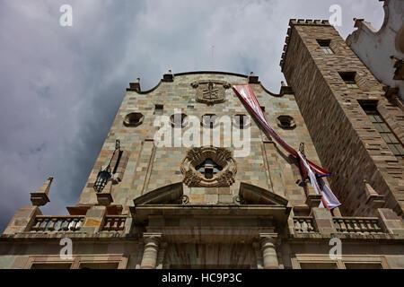 The University of Guanajuato in the center of town - GUANAJUATO, MEXICO - Stock Photo
