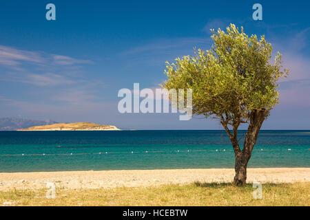 Beaches of Kusadasi in Aegean Sea, Turkey - Stock Photo