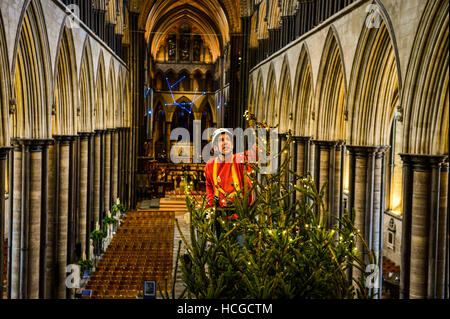 Ecclesiastical carpenter Richard Pike adds 1,000 fairy lights to ...