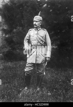 Portrait of William II Emperor of Prussia and Germany - 1917 - Stock Photo