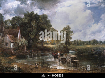 John Constable - The Hay Wain - A cart in Flatford Mill - 1821 - Stock Photo
