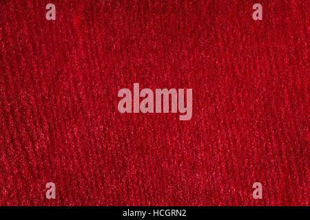 Red silk velvet macro texture. Abstract background - Stock Photo