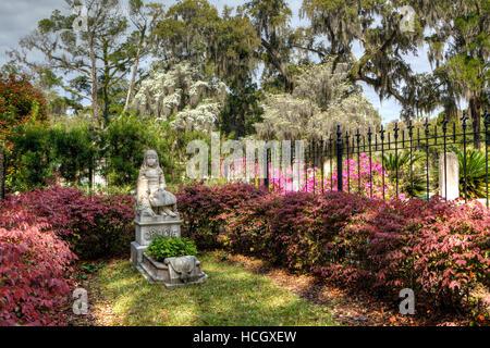 Little Gracie Watson Graveside, Bonaventure Cemetery, Savannah, Georgia USA - Stock Photo