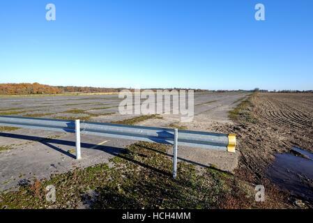 Abandoned Wisley airfield Surrey UK - Stock Photo