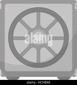 Safe icon, flat design. Deposit Box isolated on white background. Vector illustration, clip art. - Stock Photo
