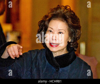 Washington DC, USA. 7th Dec, 2016.  Former United States Secretary of Labor Elaine Chao US President-elect Donald - Stock Photo
