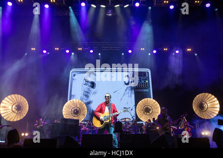 London, England, UK. 9th December 2016, Richard Ashcroft performs These People tour  at the O2 Arena, England.© - Stock Photo